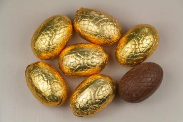 Oeufs en chocolat de Pâques