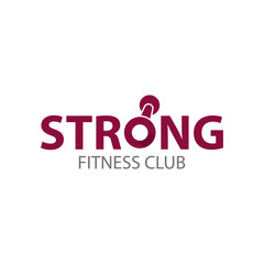 Strong fitness club logo template
