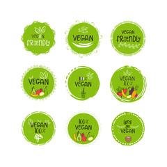 Set of vector eco, bio green logo or sign.