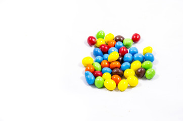 round hard candy with lots of collers something fun to think about