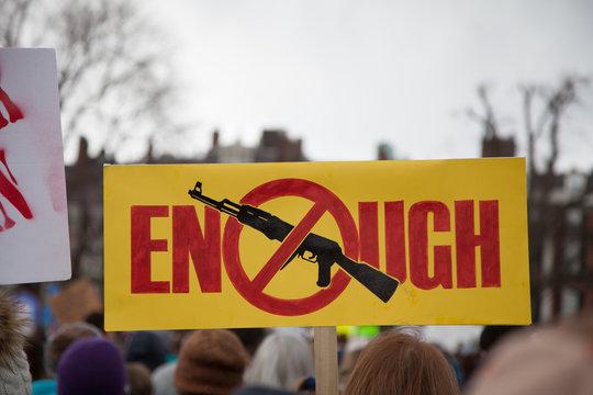 Enough; symbol no assault rifles