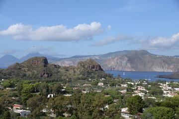 Blick von Vulcano nach Lipari