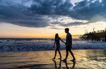 Couple in love at the beach