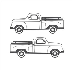 Vintage truck element design