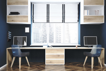 Modern workplace or a home office interior