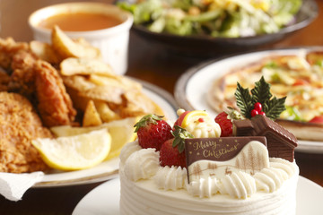 Christmas Cake and Party image