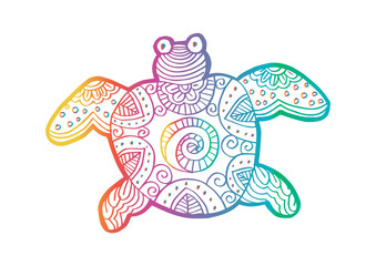 Drawing decorative turtle