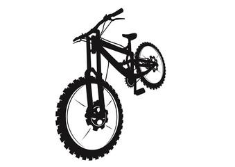Mtb downhill bike black silhouette