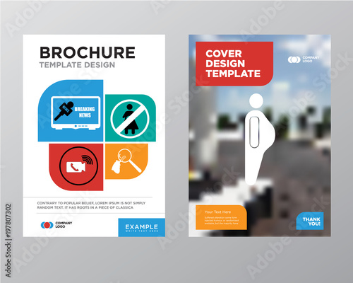 obesity brochure flyer design template with abstract photo