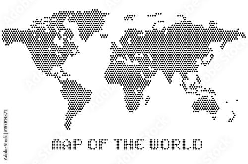 Map of dots world led uppercase english alphabet vector map of dots world led uppercase english alphabet vector illustration gumiabroncs Images