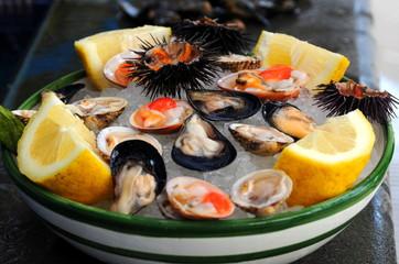 新鮮な魚介料理 シーフード