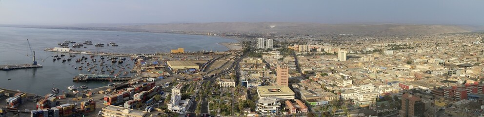 Ocean view of Arica Chile