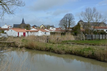 Village aux deux églises, Sallertaine, Vendée, France