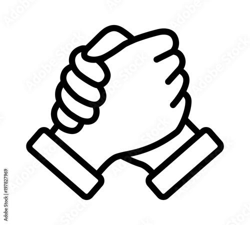 Soul brother handshake, thumb clasp handshake or homie