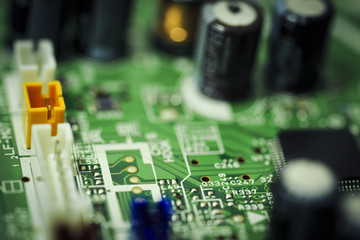 Electronics circuit board digital background photography