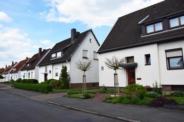 Einfamilienhäuser der Nachkriegszeit in Lindhorst/Niedersachsen