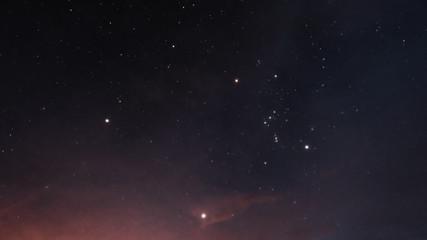 Beautiful night starry sky