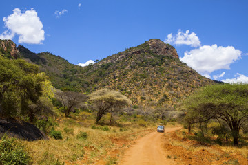 Tsavo West National Park in Kenya