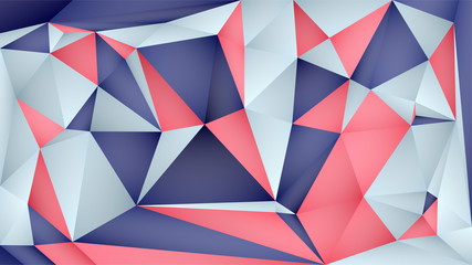 vector red blue geometric color block polygon style background