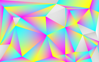 beautiful gradient holographic polygon style  vector background