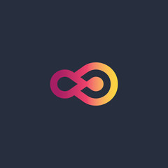 Abstract double circle logo logo symbol design for business company. vector illustration.