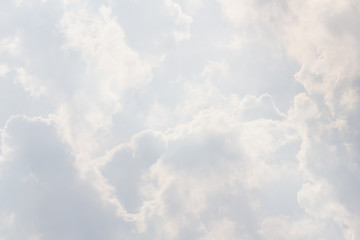 white sky background, white cloud texture, Concept : weather forecast, cloudy, rain, Aviation weather