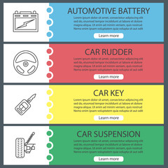 Auto workshop web banner templates set