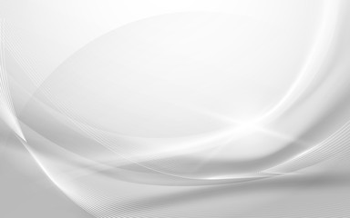 Abstract gray wavy with blurred light curved lines background
