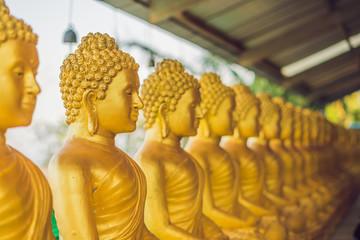 Buddha statues , Face of gold buddha, Thailand ,Asia