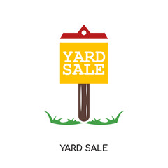 yard sale logo isolated on white background for your web, mobile and app design