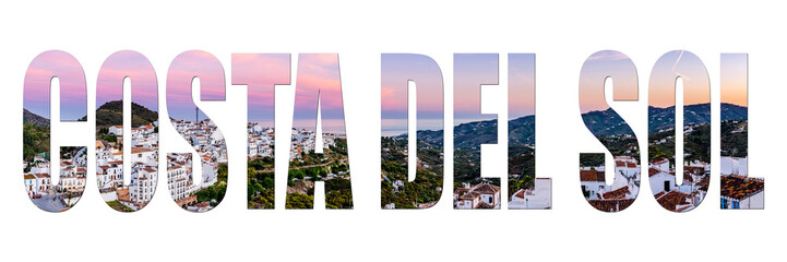 Costa del Sol letters isolated with image
