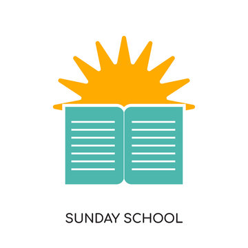 sunday school logo isolated on white background for your web, mobile and app design
