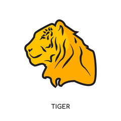 tiger logo png isolated on white background for your web, mobile and app design