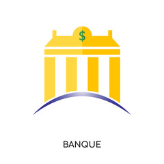 banque logo isolated on white background for your web, mobile and app design