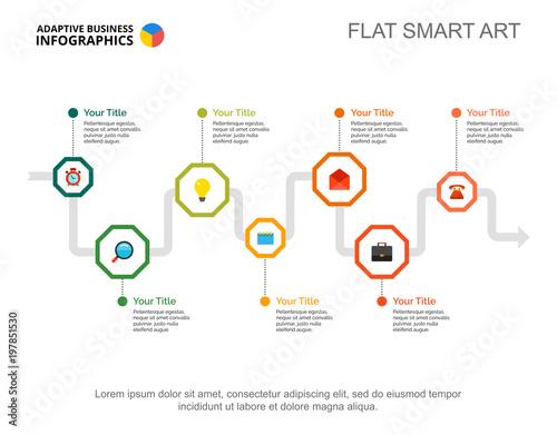 Seven Steps Process Chart Business Data Workflow Visualization