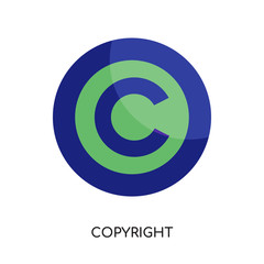 copyright free logo isolated on white background for your web, mobile and app design