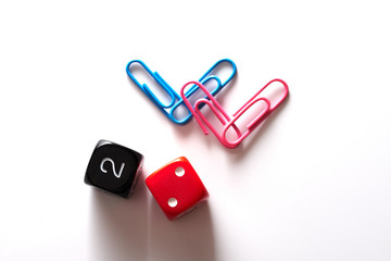 Symbols of the LGBT scene from the paperclips