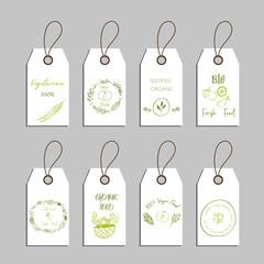 set of eco friendly labels