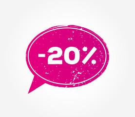 20 discount sale pink