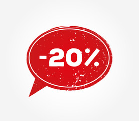 20 Percent Discount Red