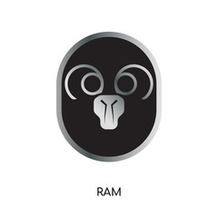 ram logo image isolated on white background for your web, mobile and app design