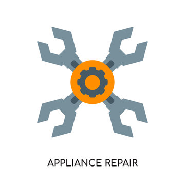 appliance repair logo isolated on white background for your web, mobile and app design