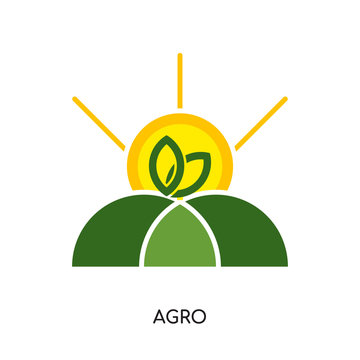 agro logo isolated on white background for your web, mobile and app design