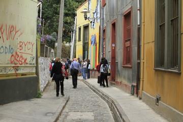 Streets of Valparaiso,  Chile
