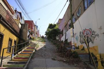 Streets of Valparaiso, Vina Del Mar, Chile