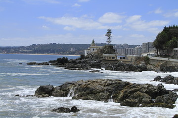 Beaches of Valparaiso, Vina Del Mar, Chile
