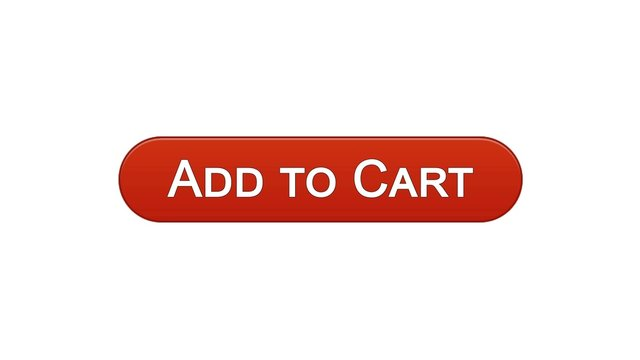 Add to cart web interface button wine red color, online shopping application