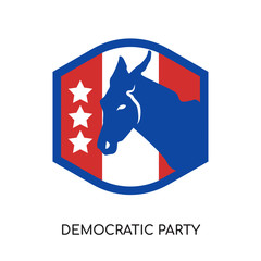 democratic party logo isolated on white background for your web, mobile and app design