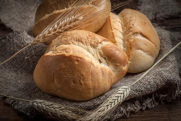 Fresh wheat roll.
