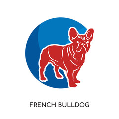 french bulldog logo isolated on white background for your web, mobile and app design